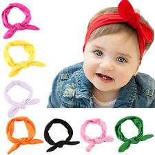 Beautiful Newborn Headbands Stretch Rabbit Bow Ear Turban Knot Hair band  LL