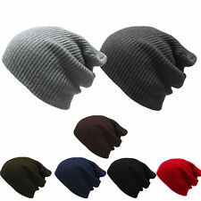 Fashion Mens Women's Knit Baggy Beanie Oversize Winter Hat Ski Slouchy Chic Cap