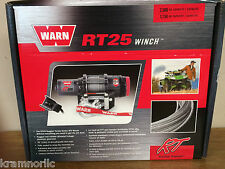 NEW WARN RUGGED TERRAIN 25 RT25 ATV WINCH 2500# 50FT AIRCRAFT-GRADE WIRE ROPE