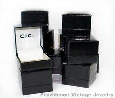 500 PCS WHOLESALE LOT OF RING GIFT BOXES JEWELRY SUPPLIES GLOSSY BLACK