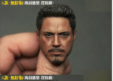 Custom 1/6 Scale Tony Stark 5.0A Neckness Head Sculpt For Hot Toys Body
