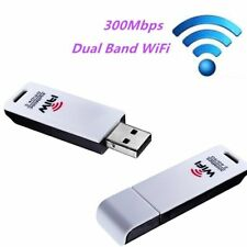 Dual Band 802.11 Wireless Adapter Wifi LAN Adaptor 300Mbps USB Dongle 5GHz FT