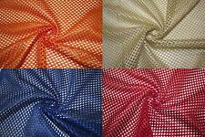 "Heavy Athletic Sports Mesh Knit 1/8"" Hole Football Jersey Polyester Fabric BTY"