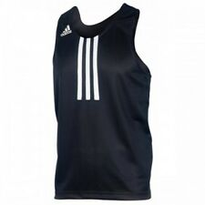 New adidas Club Line Boxing Jersey 100% Polyester Breathable Material Top-BLACK