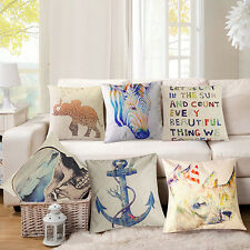 Fashion Square Linen Throw Pillow Case Cushion Cover Home Sofa Decoration Fancy