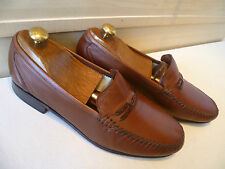 Stemar Moreschi soft leather loafer UK 9 43 Made in Italy slip on moccasin