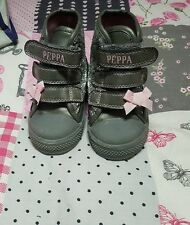 girls shoes  hi tops peppa infant size 5
