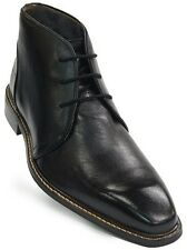 Giorgio Brutini Mens Black Chukka Leather Business Lace Up Ankle Dress Boot