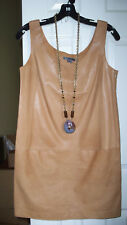 $750 Vince Light weight Leather Tank Dress NWT 4 6 8 10 Pecan GORGEOUS!