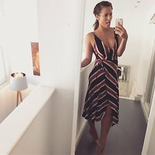 TOPSHOP *Stripe Wrap Slip Dress* NEW_UK6_8_10_12_14_16