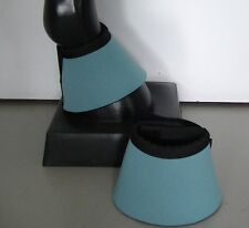 Horse Bell or Overreach Boots Pale Blue & Black AUSTRALIAN MADE Protection