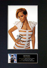 RIHANNA Signed Mounted Autograph Photo Prints A4 246