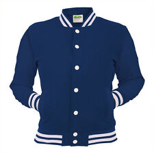 Navy Blue College Jacket Letterman Coat Baseball Top American Clothing Varsity