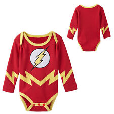 Baby Boys The Flash Costume Bodysuit Babygrow Infant Party Halloween 0-18 Months