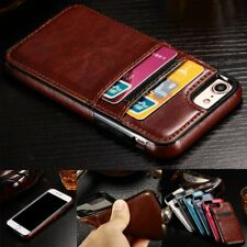 Luxury Ultra Slim Leather Wallet Card Back Case Cover For iPhone 5s SE 6s 7 Plus
