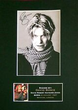 DAVID BOWIE Signed Mounted Autograph Photo Prints A4 66