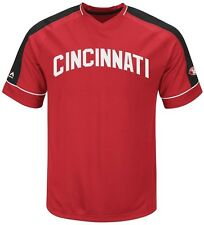 Cincinnati Reds MLB Mens Cooperstown Vintage Hit Jersey Red Big & Tall Sizes