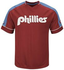 Philadelphia Phillies MLB Mens Cooperstown Vintage Hit Jersey Big & Tall Sizes