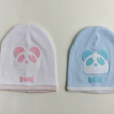 Soft Cotton Fabric Unisex Baby Gorro Stretchable Hat Cartoon Bear Pattern Warm