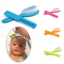 2Pcs Baby Safety Soft Hair Brush Set Infant Comb Grooming Shower Design Pack