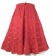 Women Clothing A-Line Long Cotton Skirt Modest Fashion ChristmasGift Party Skirt