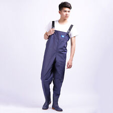 Adult Chest Waders Boot Foot Wading Pants Navy Overalls Fishing Hunting Trousers