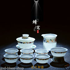 porcelain tea set blue-and-white china kung fu tea set pot tea cups novelty set