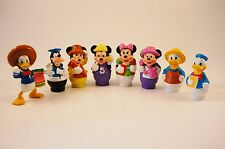 Vtg Lot 7 Disney ARCO Little People Mickey Minnie  Donald Figures PVC + 1 Donald