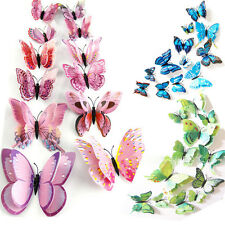 12pcs Colorful 3D Butterfly Decal Art Wall Stickers Room Decorations Home Decor
