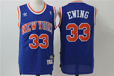 NEW New York Knicks #33 Patrick Ewing Retro Swingman Basketball Jersey Blue