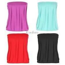 Angvns New Sexy Strapless sleeveless Pleated Top Clubwear Party Tube Top CO99