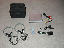 "Audiovox 7""  Monitor/DVD Player, D1708, AC/Car Adapter, Headphones, Remote,Case"