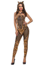 2pcs Adult Tiger Kitty Cosplay Halloween Costume Dress Fairy Tales Stage Brief