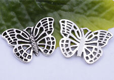 Wholesale 5pcs/10pcs tibetan silver beautiful hollow out butterfly charm pendant