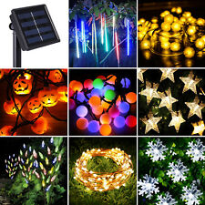 20/50/60/100/200 LED Solar Power Operated String Fairy Lights Waterproof 100%