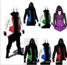 Cool Stylish Creed Hoodie Men's Cosplay For Assassins Jacket Coat Costume S-4XL