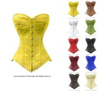 22 Double Steel Boned Waist Training Leather Long Overbust Shaper Corset #H8289