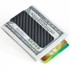 Glossy/Matte Wallet  Money Clip Mens Carbon Fiber Card Cash Holder Holiday Gift
