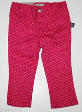 baby Gap NWT Girl's 0 3 6 12 18 24 Mo. Pink Skinny Jeans Pants w/ White Dots