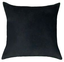 Black Faux Suede Decorative Lumbar or Square Throw Pillow