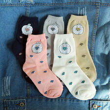 Molang korea Charater Fashion Women Casual Cute color Socks - bling