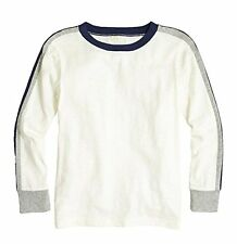 NEW J. Crew Crewcuts Boy's Long Sleeved Racing Striped Tee White or Green $27