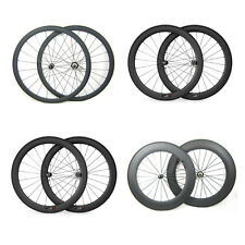 Bicycle 24/38/50/60/88mm Clincher UK Stock Straight Pull Carbon Wheels Wheelset