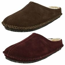Mens Clarks Kite Nordic Suede Leather Clog Style Mule Slippers