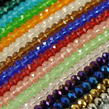 Wholesale Faceted Crystal Rondelle Loose Spacer Glass Beads 21 Colors 6mm 8mm