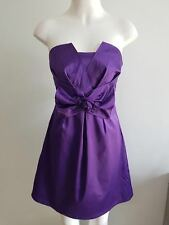 New Ladies Purple Evening Dress with Bow - Sample Size 8-10
