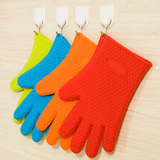 Silicone Glove Baking BBQ Cooking Mitts Oven Pot Holder Kitchen Heat Resistant