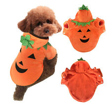 Pet Dog Cat Clothes Warm Halloween Pumpkin Costume Puppy Hoodie Apparel Supply