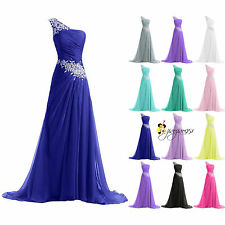 2016 New Stock Long Formal Party Prom Ball Gowns Evening Bridesmaid Dresses 6-18