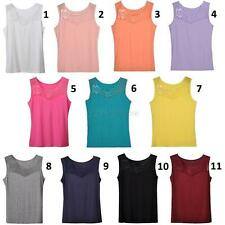 Sexy Women Embroidered Modal Camisole Cami Top Blouse T-Shirt Tank Tops Vest